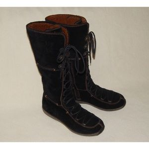 Womens 9.5 TIMBERLAND Moorland Hollace Black Boots